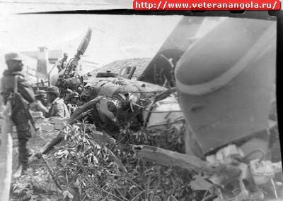 Сбитый вертолет Ми-8 ВВС Анголы